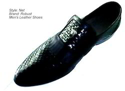 Net Design Leather Shoes
