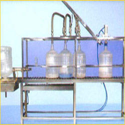 Semi Auto Jar Rinsing Filling Capping Machine