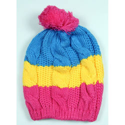 Colorful Woolen Kids Winter Cap