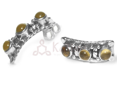 Beaded Ear-Studs Collection Citrine
