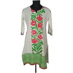 Flower Embroidered Kurti