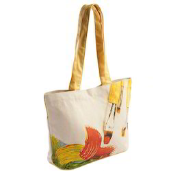 Canvas Bag with Self Fabric Handle