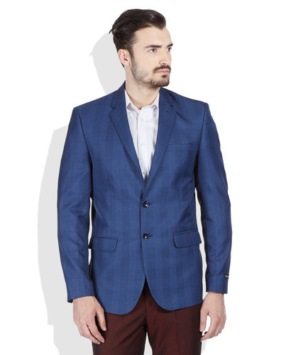 Royal Blue Casual Blazer for Men at Rs