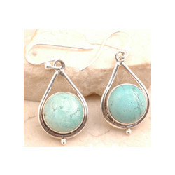 Captivating Sterling Silver Earrings Turquoise