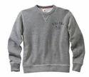 Off White Casual Round Neck Cotton Sweatshirt, Sizes : S, M, L, Xl
