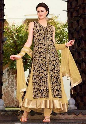 c6716120d7 Black Velvet Designer Anarkali Suit - Shree Designer Saree, Mumbai ...
