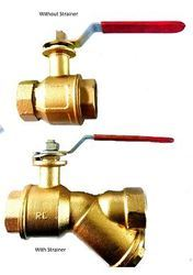 Brass Ball Valve With & Without Strainer
