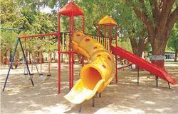 Two Slide Playground Equipment