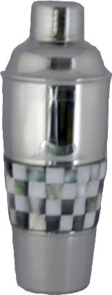 Stainless Steel Cocktail Shaker (Black & White)