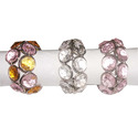 Clear White/ Pink Vm Handicraft Rainbow Crystal Napkin Ring, Size: 2 Inch, Packaging Type: 80 Pcs In Inner