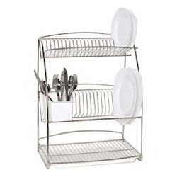 Stainless Steel 3 Tier Plate Rack  sc 1 st  IndiaMART & Stainless Steel 3 Tier Plate Rack at Rs 3000 /piece | SS Rack ...