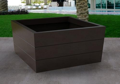 dp oxidized com planter square black inch avino listo amazon