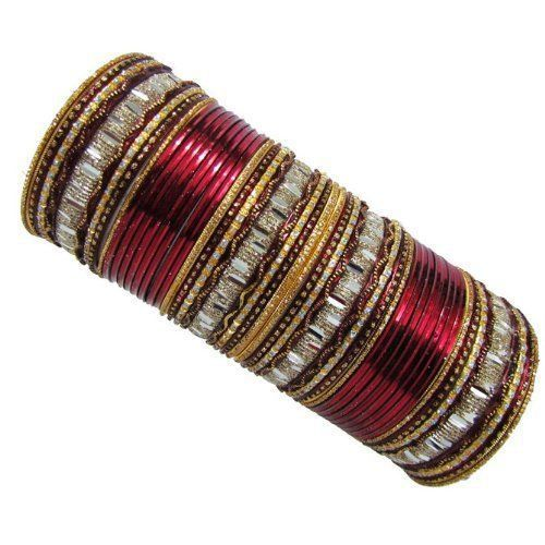 Jewelry & Watches Active Chura Bangle Set 2.8 Red Maroon Rhinstone Bridal Dulhan Punjabi Wedding Party Engagement & Wedding