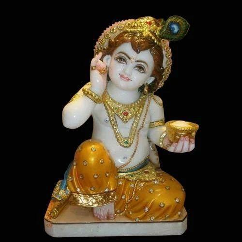 White Makarana Marble Krishna Idols Statue Rs 15000 Piece Akshar