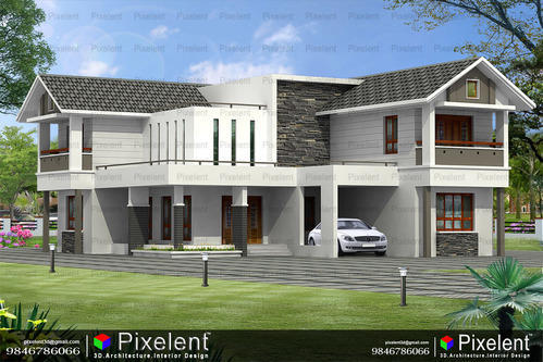 Pixelent - 3d Architectural Visualization, Kannur, Kerala in Caltex on fashion design software 3d, kerala house interior design, kerala house designs floor plans,