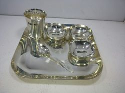Silver Square Thali Set