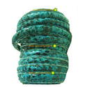 Turquoise Print Stitched Leather Cords