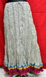 Ladies Silk Long Skirts