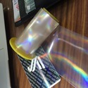 Rainbow Logo Transparent Holographic Overlay