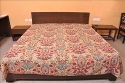 Kantha Quilt Handmade Mughal Design Blanket,Bed Cover