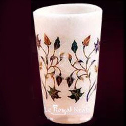 Marble Inlay Glass
