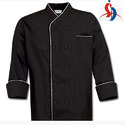 Black and Silver Chef Coat