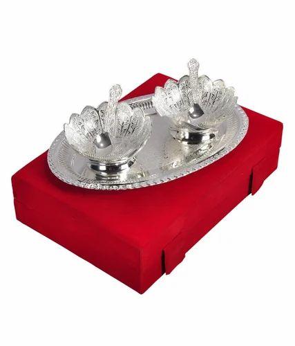 wedding return gifts - Jupiter Gifts And Crafts Silver Bowl