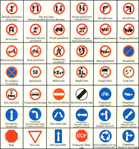Mandatory Signs Borad Road Barriers Safety Nautamlal Sons