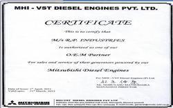 Mitsubishi Certificate