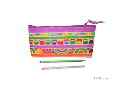 PINK LEATHER Antique Pencil Case, Packaging Type: Polybag
