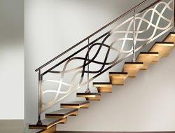 Polished Steel Railing, For Home
