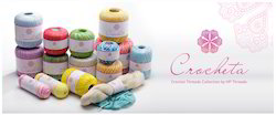Mix Color Crocheta Crochet Threads, For Hand Knitting