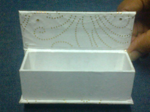 Empty Wedding Scroll Boxes - Rigid Empty Scroll Boxes In White For Wedding Stationers Exporter from Mumbai