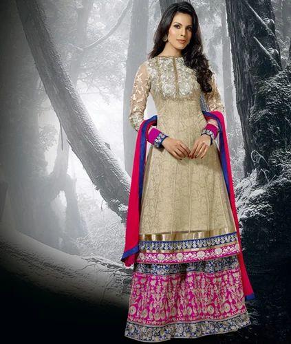 Ladies Suit Designer Sharara Suit Manufacturer From Delhi