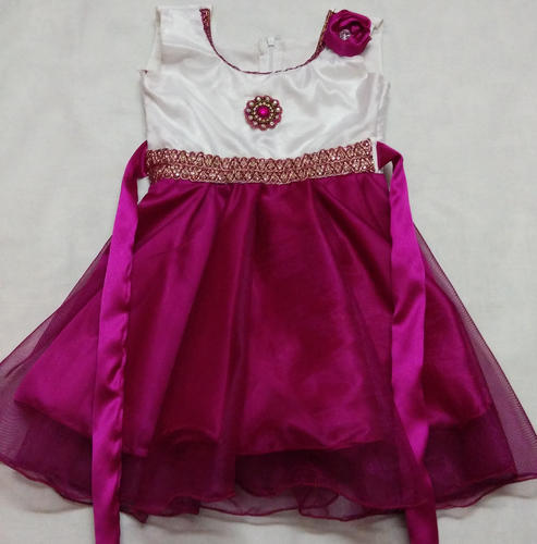 8b072677828c Party Wear Baby Frock - Pink White ( 2 - 3 Years ) at Rs 850  piece ...