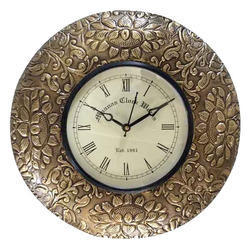 Brass Color Fitted Wall Clock