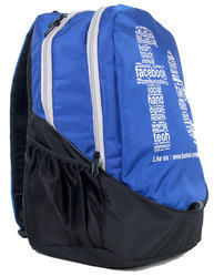 Blue and Black Casual Backpack