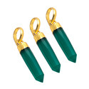 Green Onyx Spikes Gold Plated Trends Pendant
