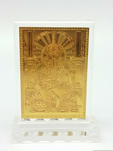 Gold Plated Idols And Statues 24k Gold Plated Ganesha Idol