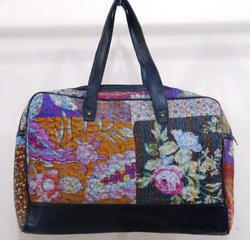 Kantha Handmade Patch Stonewash Leather Bag