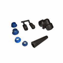 Black & Blue Injection Molded Plastic Component
