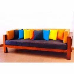 Colorful Teak Wood Sofa