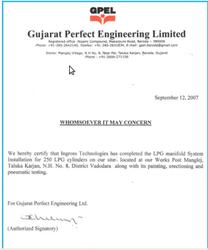 Gujarat Perfect Engineering Certificate
