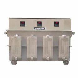 50 Hz Sheet Steel 200 KVA Three Phase Automatic Servo Voltage Stabilizer, 415 V, 300-470v Ac