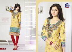 Printed Cotton Women Kurtis