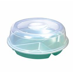 Spa Food Serving Plate With Cover Microwave Safe Ramnik Plastic Agency