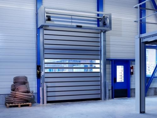 Toshi Blue Spiral High Speed Doors