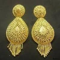 Gold Earring Kanak Saanvi Jewels