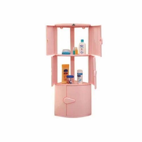 Ivory Nilkamal 3 Door Corner Cabinet, Rs 1480 /piece, Nilkamal ...