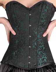 Sea Green Brocade  Overbust Corset